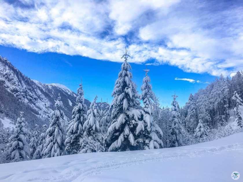 Sehr geniale Winterlandschaft am Weg zur Klagenfurter Hütte