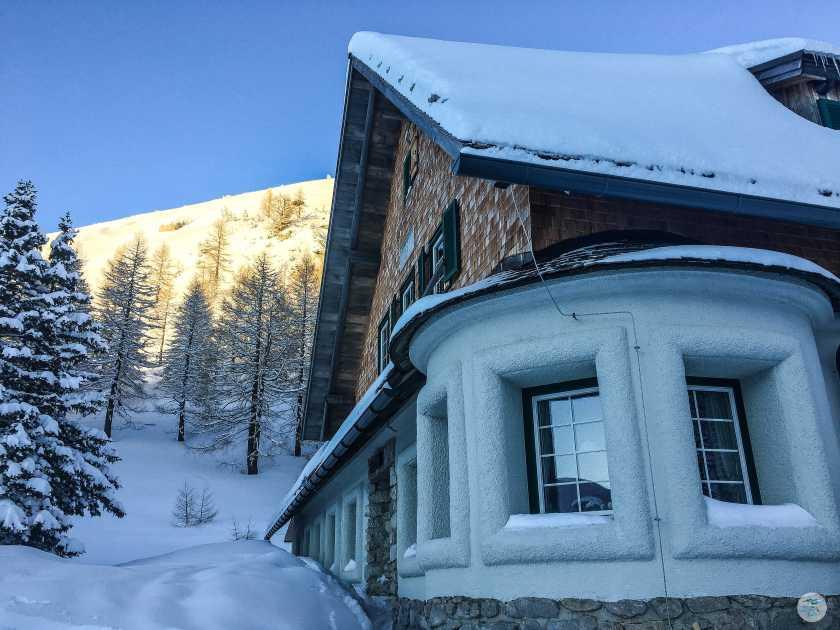 Klagenfurter Hütte 1664 m im Winter