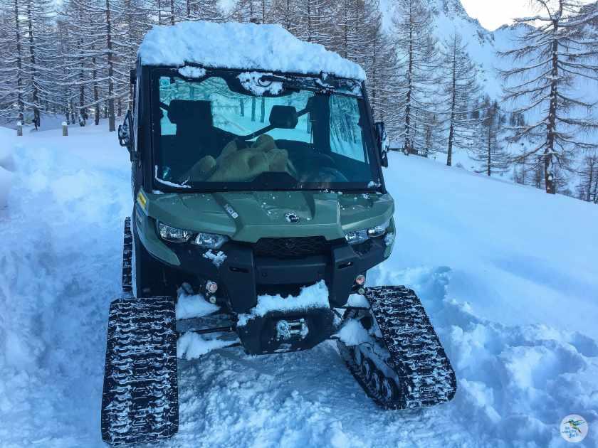 Schneemobil DELUXE auf der Klagenfurter Hütte