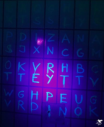 Buchstaben wohin das Auge reicht