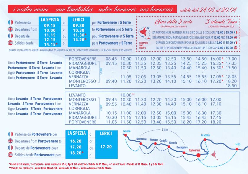 Boot Zeitplan