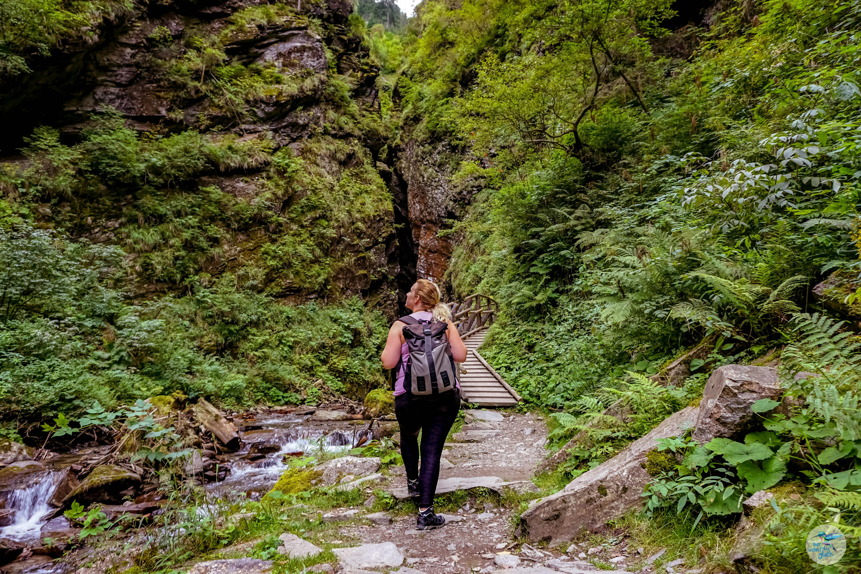 Raggaschlucht: wandern im Naturdenkmal