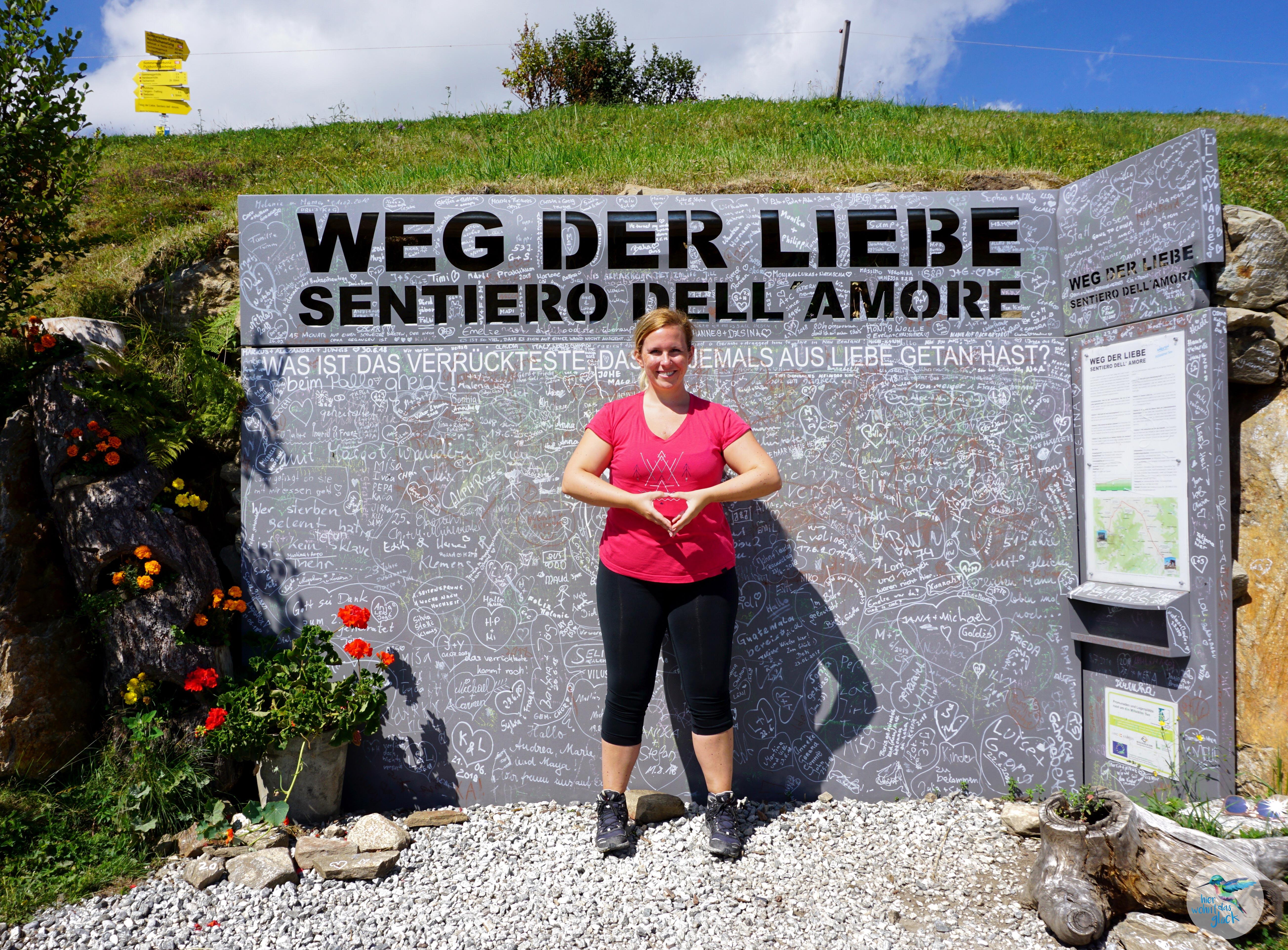 "Start am ""Weg der Liebe"" zum Granattor"
