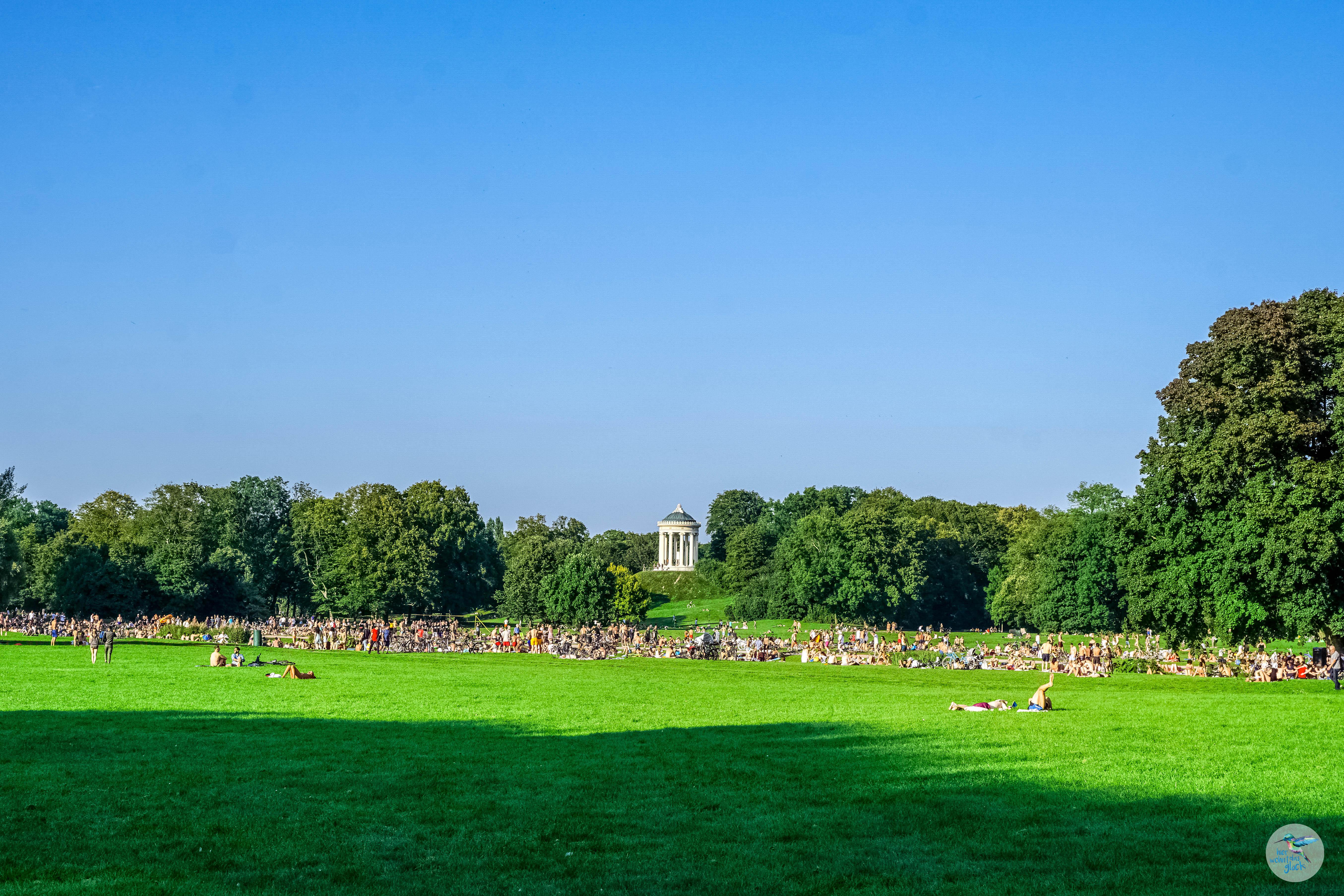 Der Englische Garten ist beliebter Treffpunkt in München