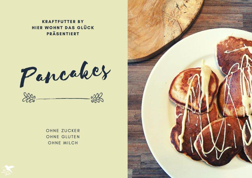 Pancakes Rezept - ohne Zucker, ohne Gluten, ohne Milch