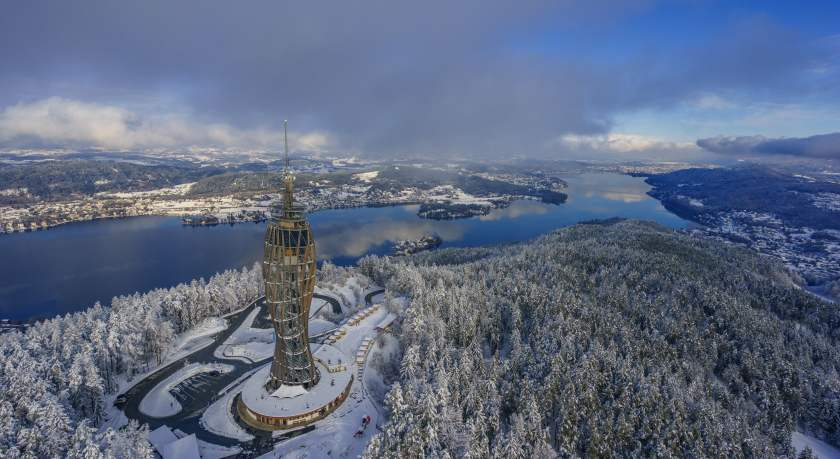 Schneelandschaft am Wörthersee © Kärnten Werbung/ Tine Steinthaler
