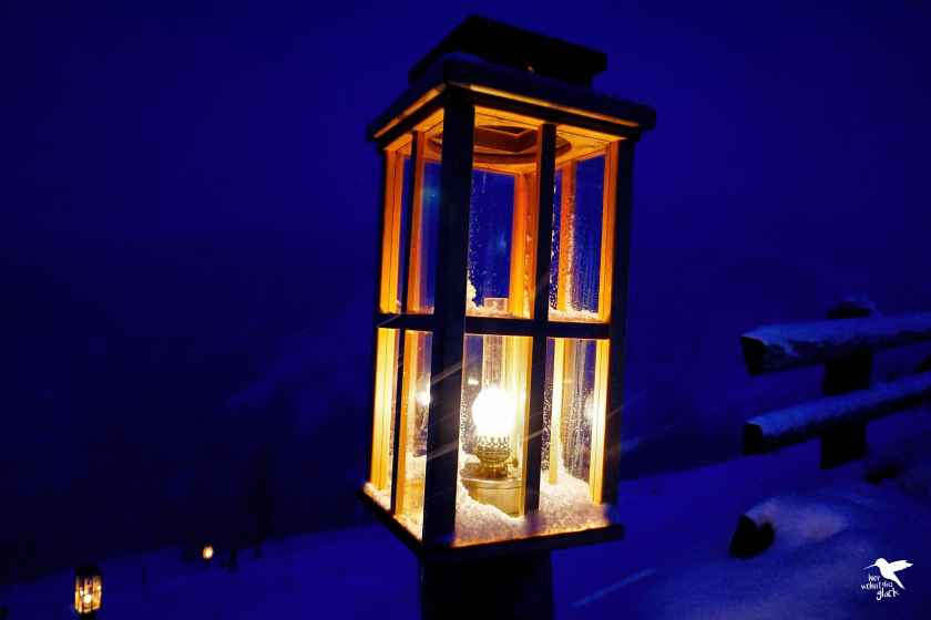 Romantische Beleuchtung entlang des Katschberger Adventweges