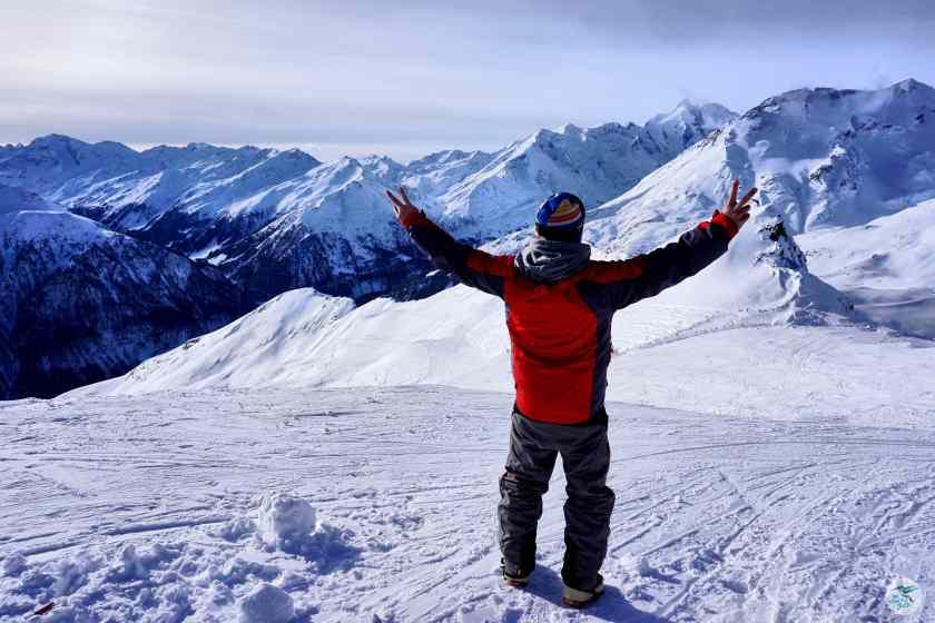 Bergstation Schareck mit Blick auf den Großglockner 3798 m