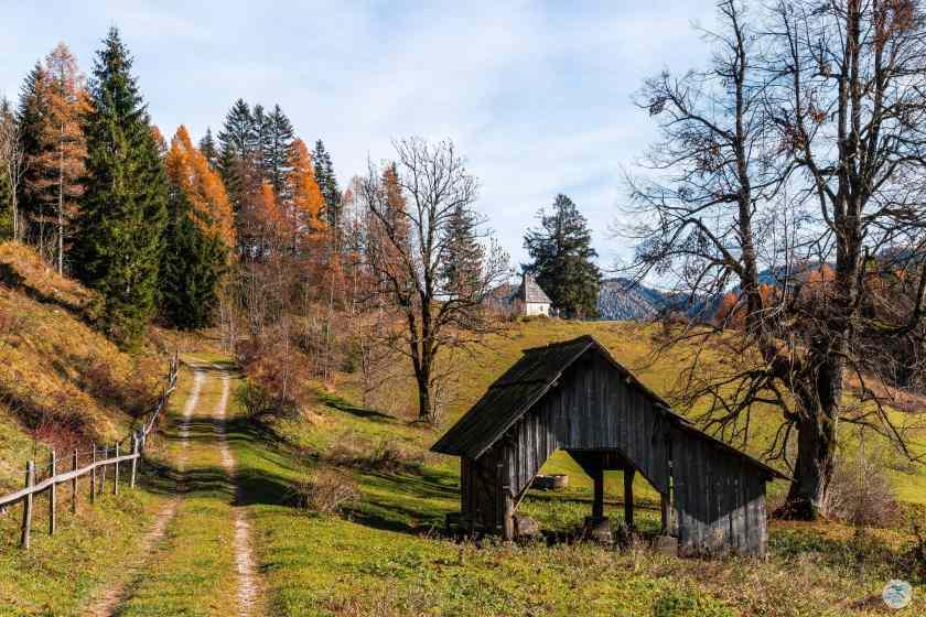 Wanderweg Richtung Matschacher Gupf, Höhe Kapelle Alt St.Michael